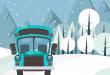 Il treno e il bus della neve